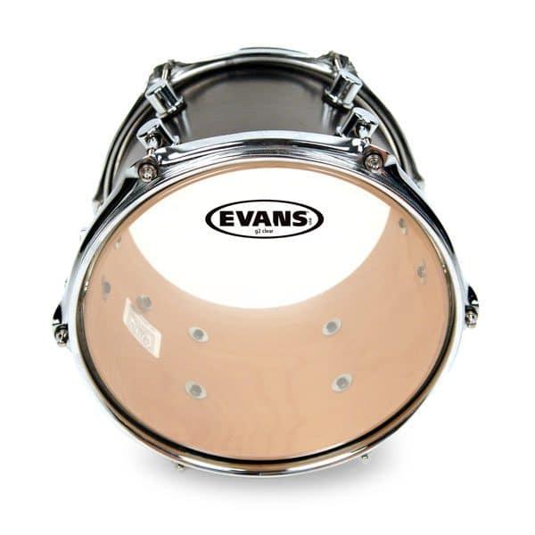 Evans G2 Clear 13 inch Tom Head-0